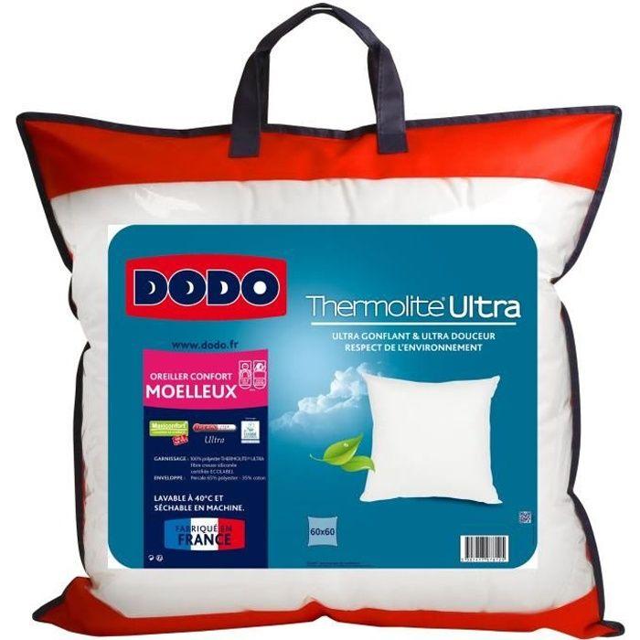 Oreiller dodo maxiconfort ultra 60x60cm achat vente oreiller cdiscount - Oreiller vegetal dodo ...