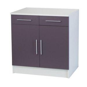 trendy 4 meuble bas 2 portes 2 tiroirs l80cm parme. Black Bedroom Furniture Sets. Home Design Ideas