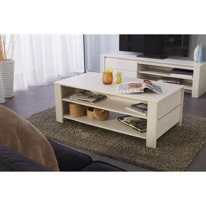 TABLE BASSE SOHO Table basse contemporain décor frêne - L 108