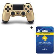 PACK ACCESSOIRE Manette DualShock 4 Or PS4 + Abonnement Playstatio