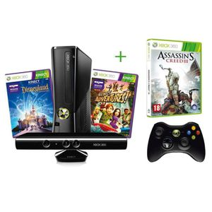 CONSOLE XBOX 360 ASSASSIN'S CREED 3 + XBOX 360 4GO + KINECT+ADVENTU