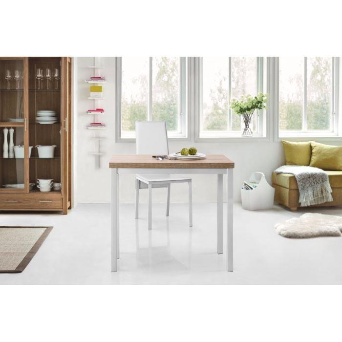 Kitchen table extensible 80x45 80cm coloris ch ne achat for Table extensible 80 cm
