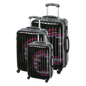lulu castagnette set de 3 valises ajc noir achat vente set de valises 3700543740247 cdiscount. Black Bedroom Furniture Sets. Home Design Ideas