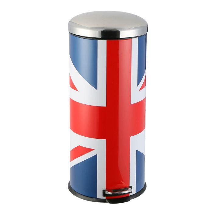 Poubelle 30 litres union jack uk achat vente - Poubelle 30 litres ...