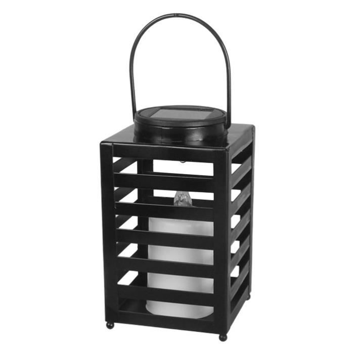 galix lampe de table solaire en m tal noir achat. Black Bedroom Furniture Sets. Home Design Ideas