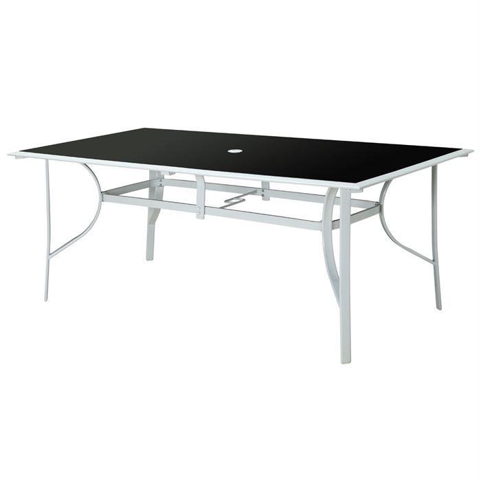 Table rectangulaire en aluminium 180 x 100 cm achat - Dimension table rectangulaire ...