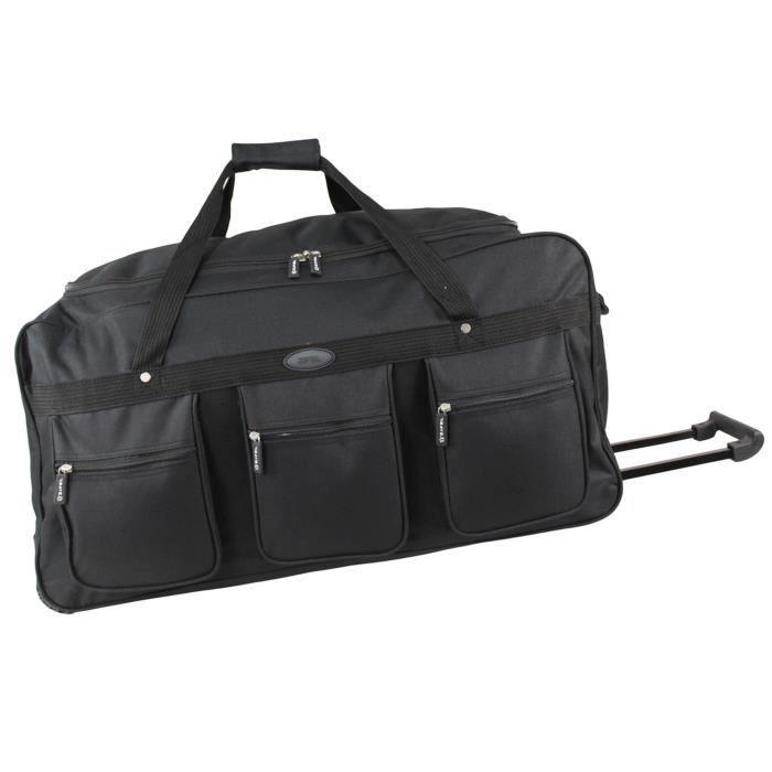 zifel sac de voyage roulettes souple 70cm mlt90black noir noir achat vente sac de voyage. Black Bedroom Furniture Sets. Home Design Ideas