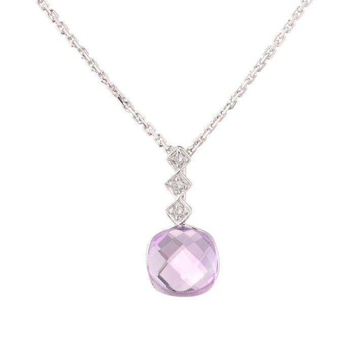 SAUTOIR ET COLLIER LE DIAMANTAIRE Collier Or 375° et Diamants Femme