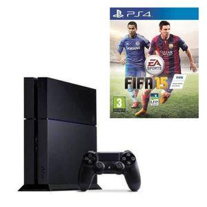 Console PS4 500 Go Noire + Jeu FIFA 15
