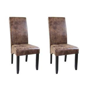 chaises marron achat vente chaises marron pas cher. Black Bedroom Furniture Sets. Home Design Ideas