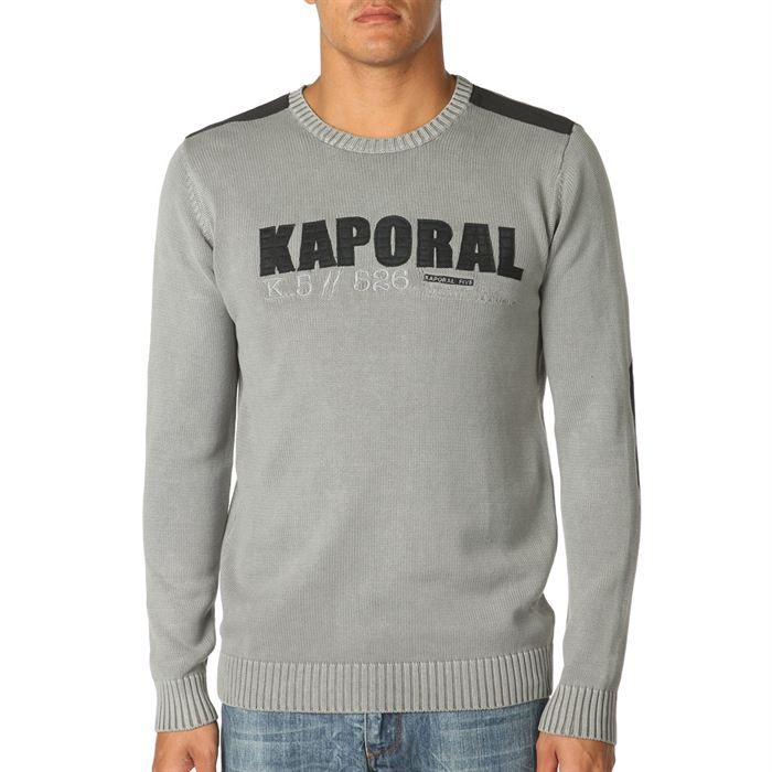 kaporal pull homme gris achat vente pull kaporal 5 pull homme cdiscount