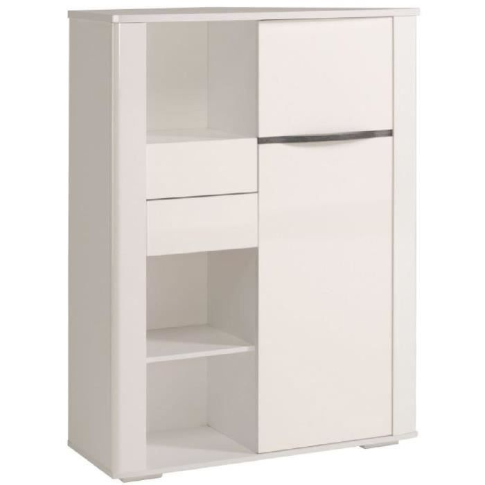 white bahut haut l100 cm blanc brillant achat vente buffet bahut white bahut haut l100 cm. Black Bedroom Furniture Sets. Home Design Ideas