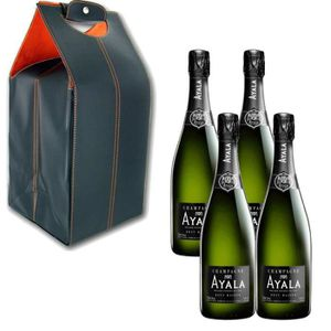 CHAMPAGNE Coffret Cuir Champagne Ayala Brut Majeur