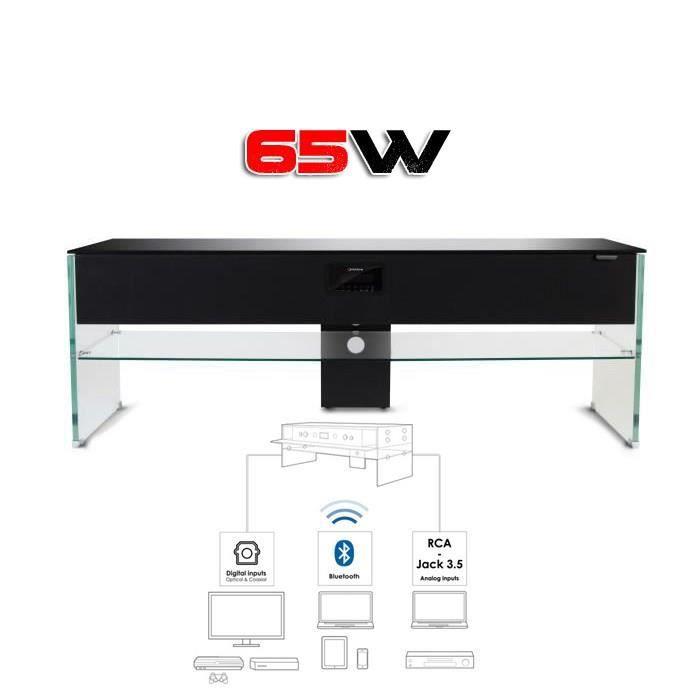 Norstone scala meuble tv hifi 2 1 bluetooth meuble hifi - Meuble tv high tech ...