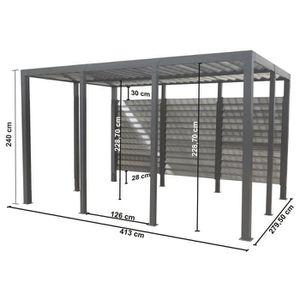 carport double achat vente carport double pas cher les soldes sur cdiscount cdiscount. Black Bedroom Furniture Sets. Home Design Ideas