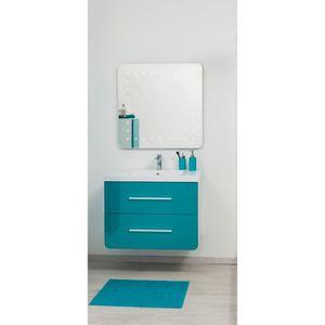 Meuble salle de bain bleu achat vente meuble salle de for Ensemble meuble salle de bain 80 cm pas cher