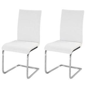 CHAISE LEA Lot de 2 chaises de salle à manger en simil...