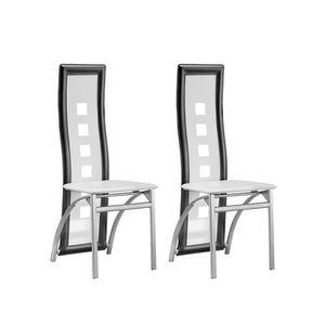 Chaises de salle a manger blanche en simili achat for Chaise blanche et grise