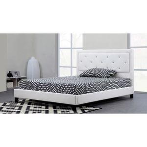 lit adulte avec sommier et matelas 140 190 achat vente lit adulte avec sommier et matelas. Black Bedroom Furniture Sets. Home Design Ideas