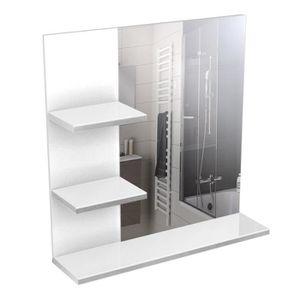 Miroir de salle de bain avec tablette achat vente for Tablette de salle de bain ikea
