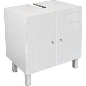MEUBLE VASQUE - PLAN CORAIL Meuble sous-lavabo L 60 cm - Blanc Haute Br