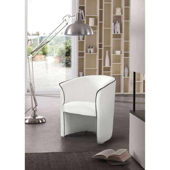 baya fauteuil cabriolet blanc achat vente fauteuil. Black Bedroom Furniture Sets. Home Design Ideas