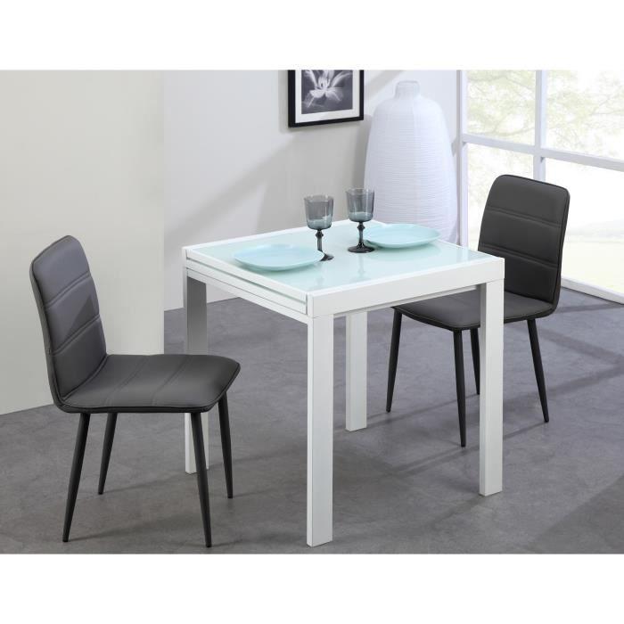 capri table extensible blanche 70 140cm achat vente. Black Bedroom Furniture Sets. Home Design Ideas
