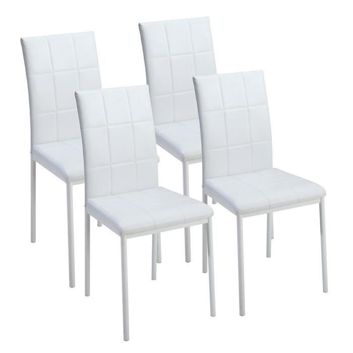 Dona lot de 4 chaises de salle manger en simi achat for Chaise de salle a manger par 4