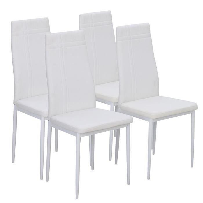 Mat lot de 4 chaises de salle manger en simili achat for Lot 4 chaises salle manger