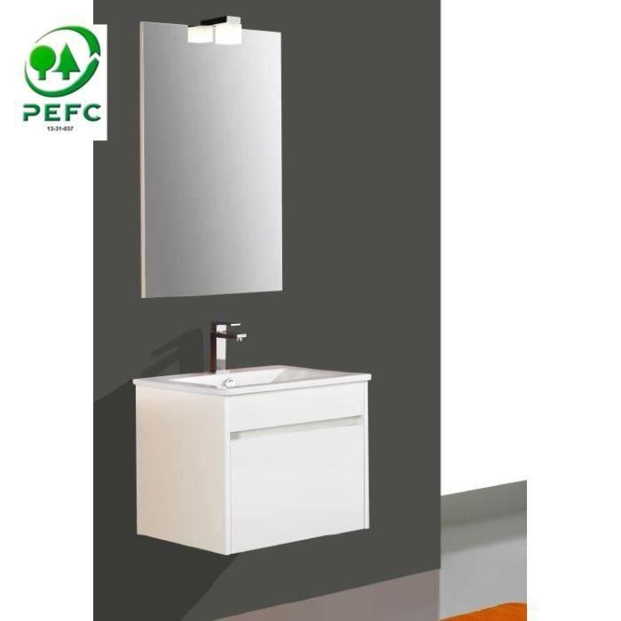 Salle de bain wc buanderie salles de bain compl tes - Meuble de salle de bain blanc laque ...