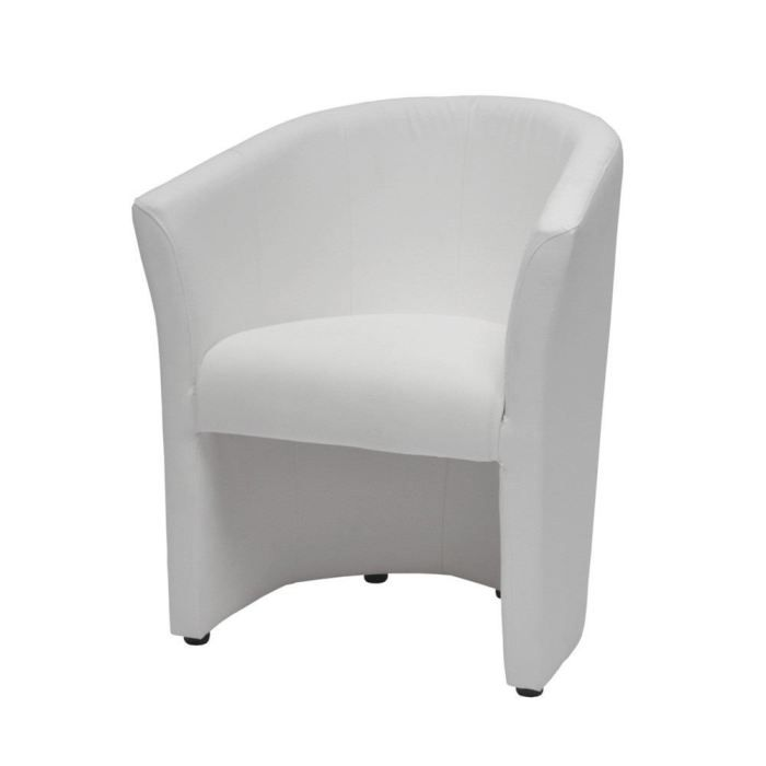 cabriolet roman pu coloris blanc achat vente fauteuil. Black Bedroom Furniture Sets. Home Design Ideas