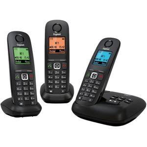 Téléphone fixe Gigaset A540A trio noir