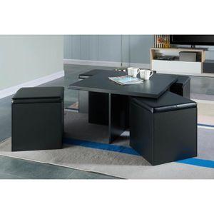 table basse avec pouffe achat vente table basse avec pouffe pas cher cdiscount. Black Bedroom Furniture Sets. Home Design Ideas