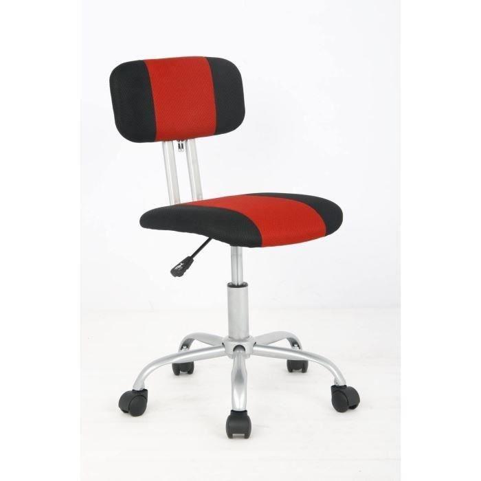 Zebra chaise de bureau noire rouge achat vente chaise de bureau base m ta - Chaise de bureau rouge ...