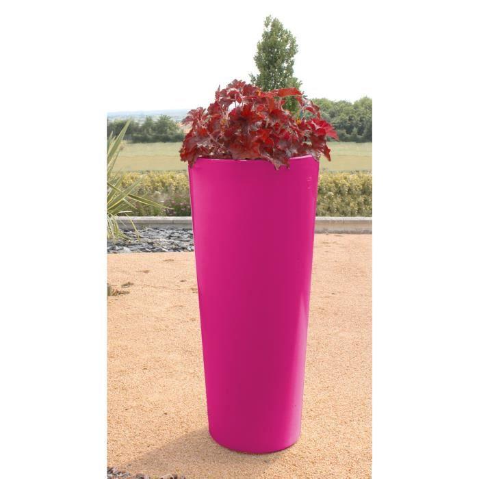 Cosmos pot brillant hauteur 100 cm diam tre 45 cm fuchsia for Jardiniere hauteur 1 metre