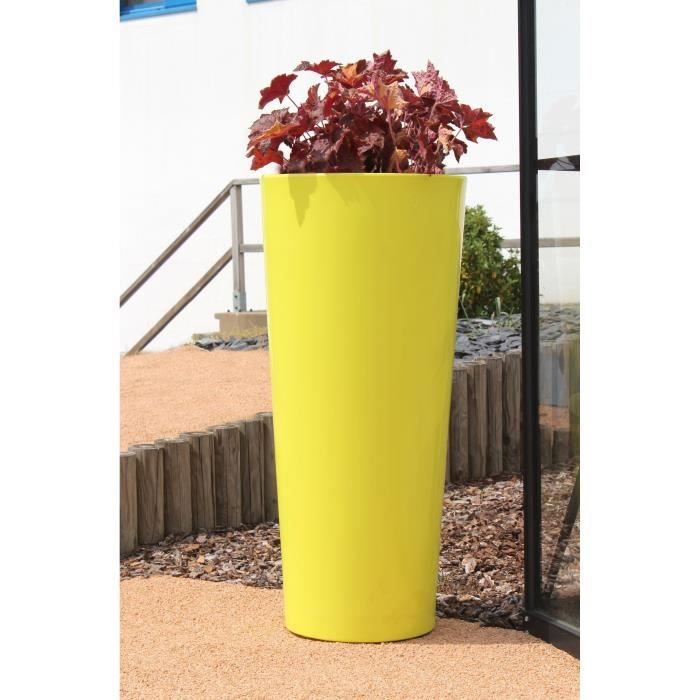 cosmos pot brillant hauteur 100 cm diam tre 45 cm vert anis achat vente jardini re pot. Black Bedroom Furniture Sets. Home Design Ideas