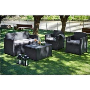 salon de jardin avec coffre achat vente salon de jardin avec coffre pas cher cdiscount. Black Bedroom Furniture Sets. Home Design Ideas