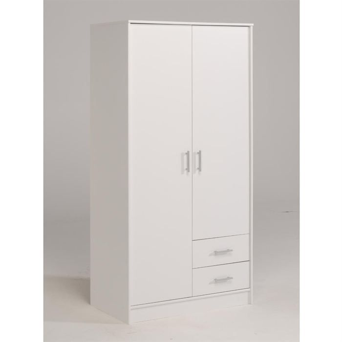 Object moved - Armoire blanche porte coulissante ...