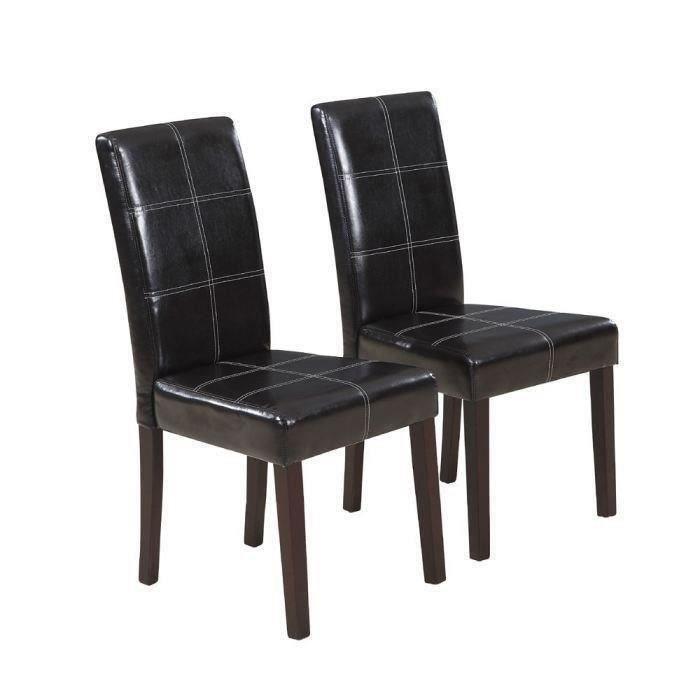 Cross lot de 8 chaises de salle manger marron achat for 8 chaises salle a manger
