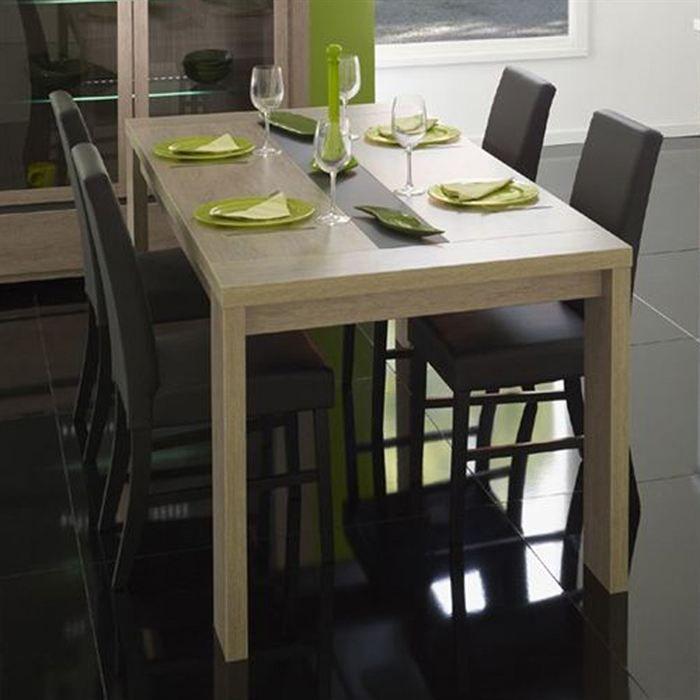 Roma table manger 6 personnes 190x90 cm d cor ch ne for Table 2 personnes