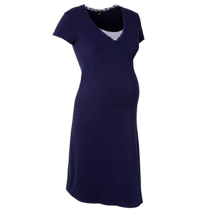 chemise de nuit d 39 allaitement marni v tements de grossesse noppies achat vente robe soldes. Black Bedroom Furniture Sets. Home Design Ideas