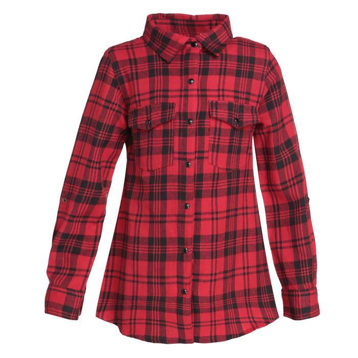 vitamine chemise enfant fille rouge et noir achat vente chemise chemisette vitamine. Black Bedroom Furniture Sets. Home Design Ideas