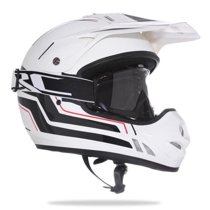 amx casque cross jump noir et blanc masque achat vente casque moto scooter amx casque. Black Bedroom Furniture Sets. Home Design Ideas