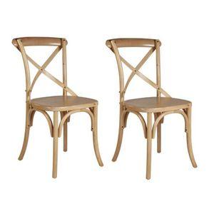 CHAISE ROMANCE Lot de 2 chaises de salle à manger en boul