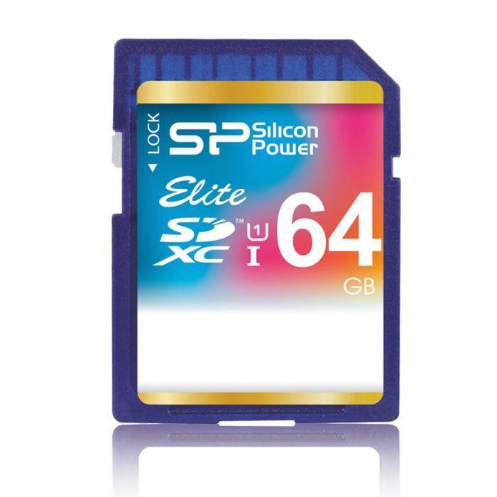 silicon power elite uhs 1 carte sd 64 go classe 10 achat vente carte m moire soldes d t. Black Bedroom Furniture Sets. Home Design Ideas