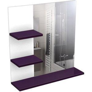Meuble salle de bain achat vente meuble salle de bain - Miroir salle de bain avec tablette ...