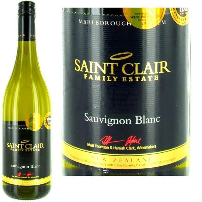 VIN BLANC Nouvelle Zélande: Saint Clair Sauvignon Blanc 2011