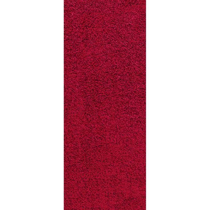 Tapis de couloir shaggy bordeaux 60x180 40 mm achat vente tapis de couloi - Tapis shaggy bordeaux ...