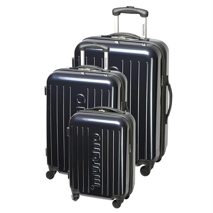 murano set de 3 valises trolley 4 roues atr marine achat vente set de valises murano set de. Black Bedroom Furniture Sets. Home Design Ideas