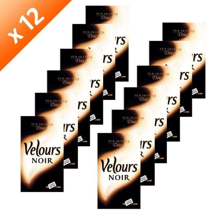 CAFÉ - CHICORÉE CARTE NOIRE Velours Noir Moulu 250g (x12)